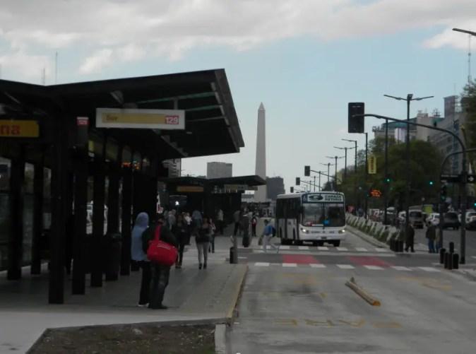 Buenos Aires Metrobus Obelisk