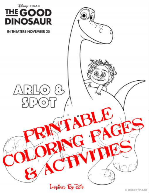 THE GOOD DINOSAUR Activity Sheets and Coloring Pages - This Fairy - coloring dinosaur
