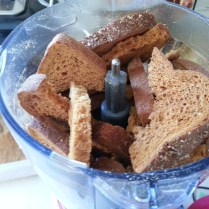 toast in the food processor