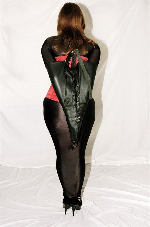women leather corset dress