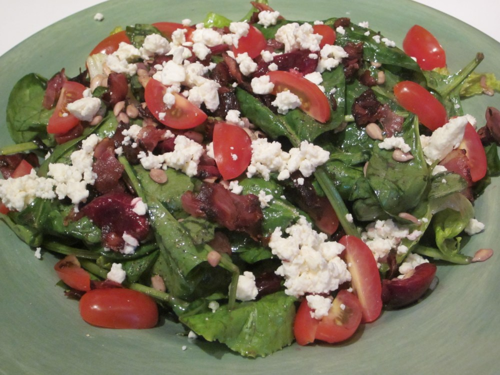 -spinach-salad-with-crispy-prosciutto-cherries-and-feta-cheese ...