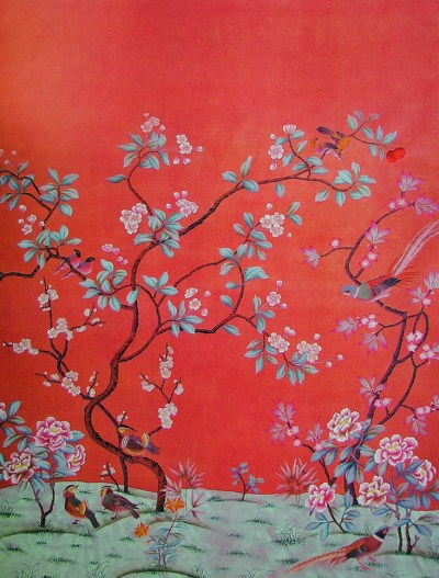 How Do They Do That? Chinoiserie Wallpaper | This Handcrafted Life