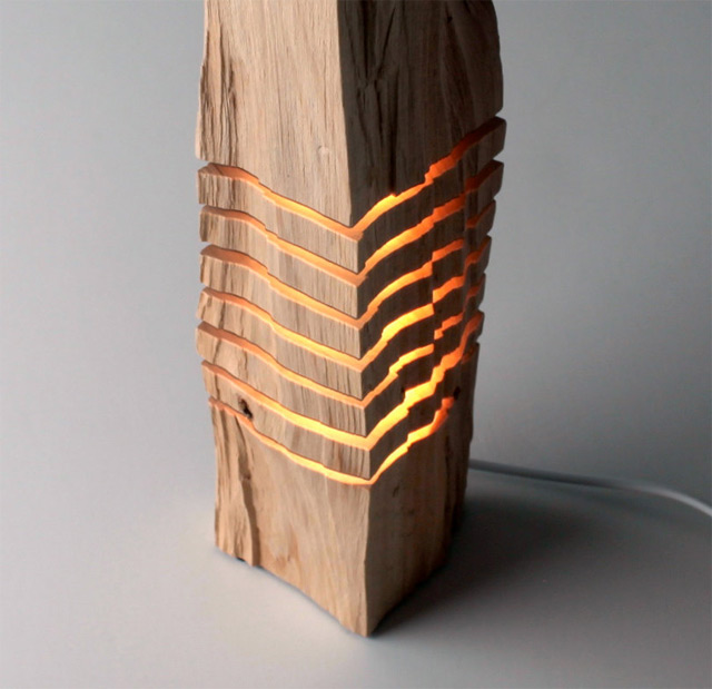 Lighting Lampen Minimalist Split Wood Lights And Sculptures By Split Grain