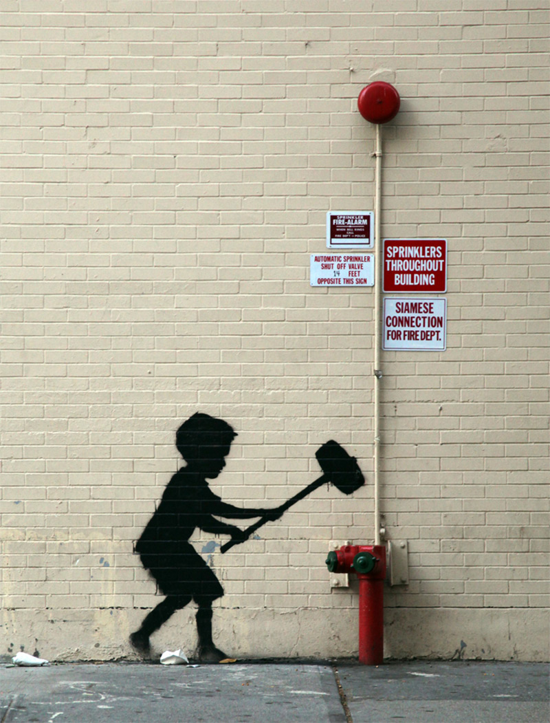 Standvitrinen Amazon Banksy In New York Day 20 Upper West Side Colossal
