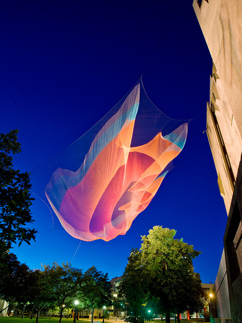 Canvas Artwork Giant Suspended Net Installations By Janet Echelman | Colossal