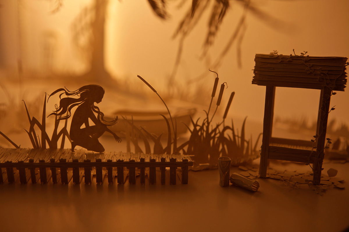 Duo Design Papercraft Dioramas Come To Life With Projected Animations
