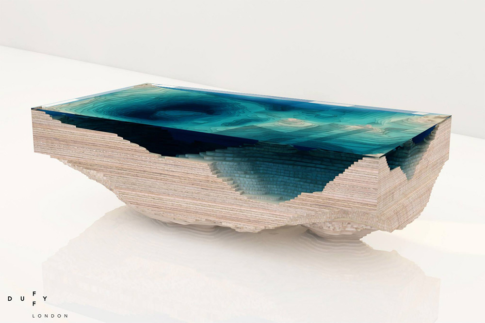Couchtisch Made Layered Glass Table Concept Creates A Cross-section Of The