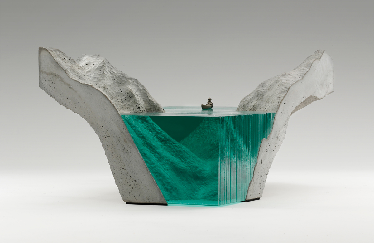 Ben Young Sculptures Layered Glass Wave Sculptures By Ben Young Colossal