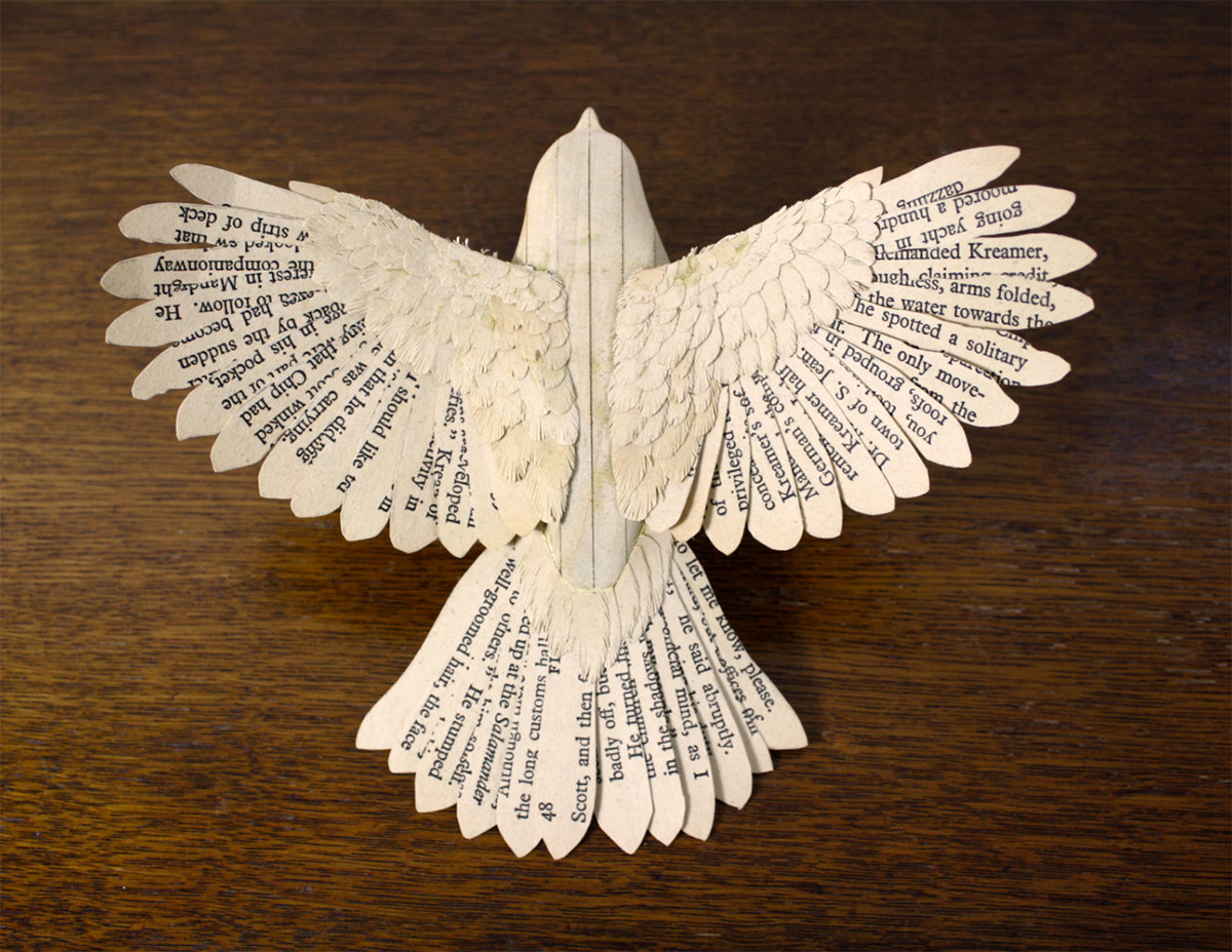 Paper Bird Sculpture Handmade Wood And Paper Birds By Zack Mclaughlin Colossal