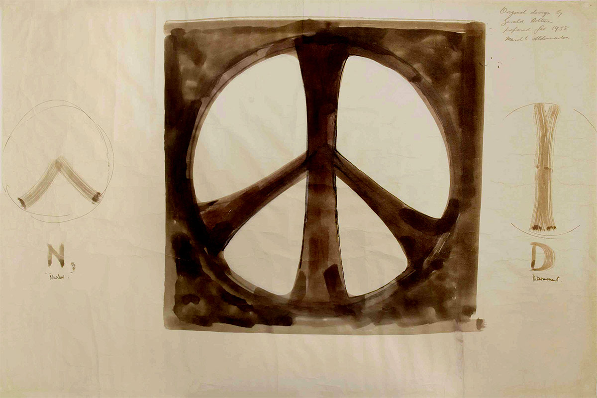 Arte Digital World Panjim Goa Delicate Sketches Of The Original Peace Symbol To Be Exhibited In
