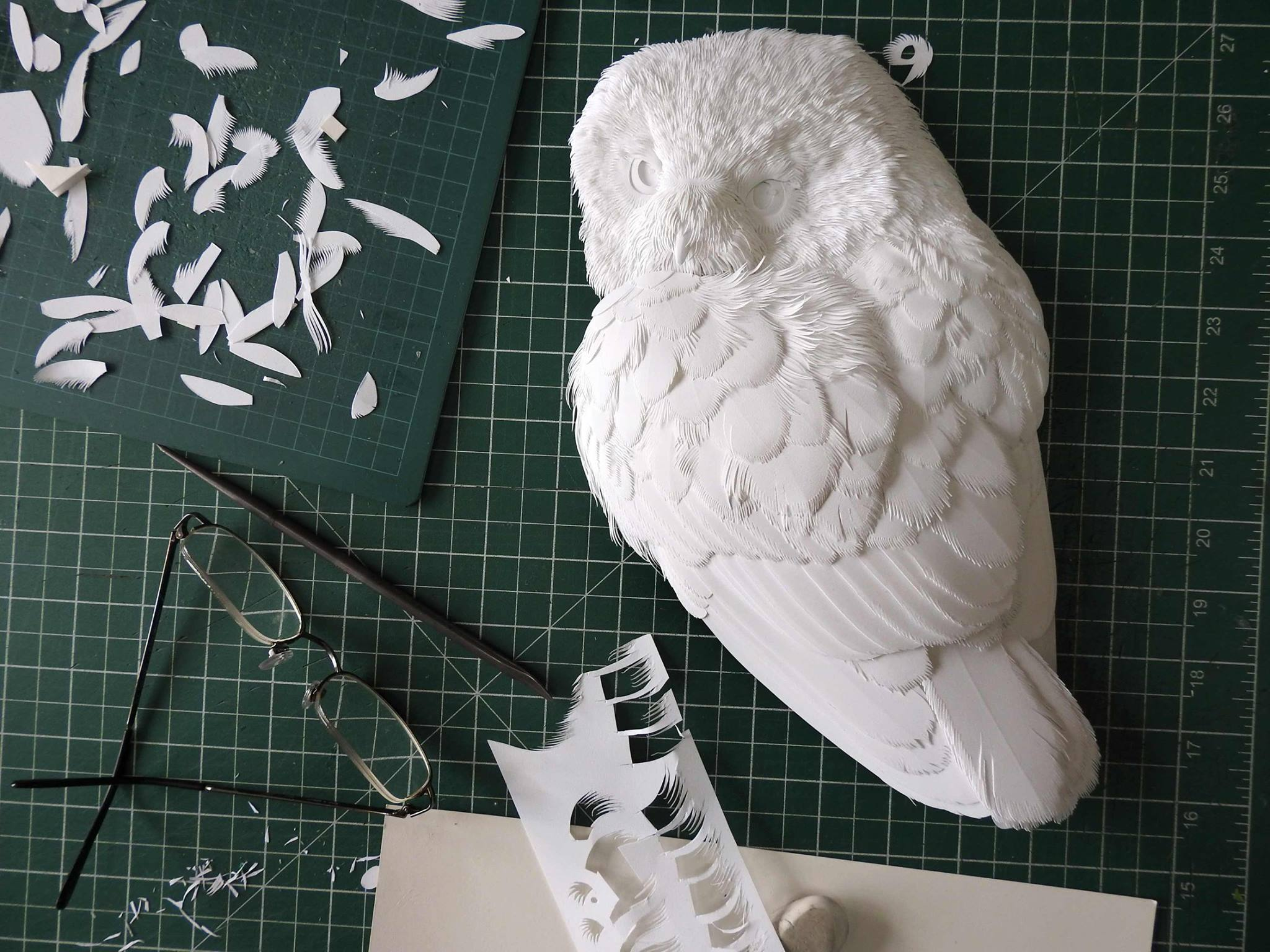 Paper Bird Sculpture Haut Relief Portraits Of Animals Come Alive In Detailed