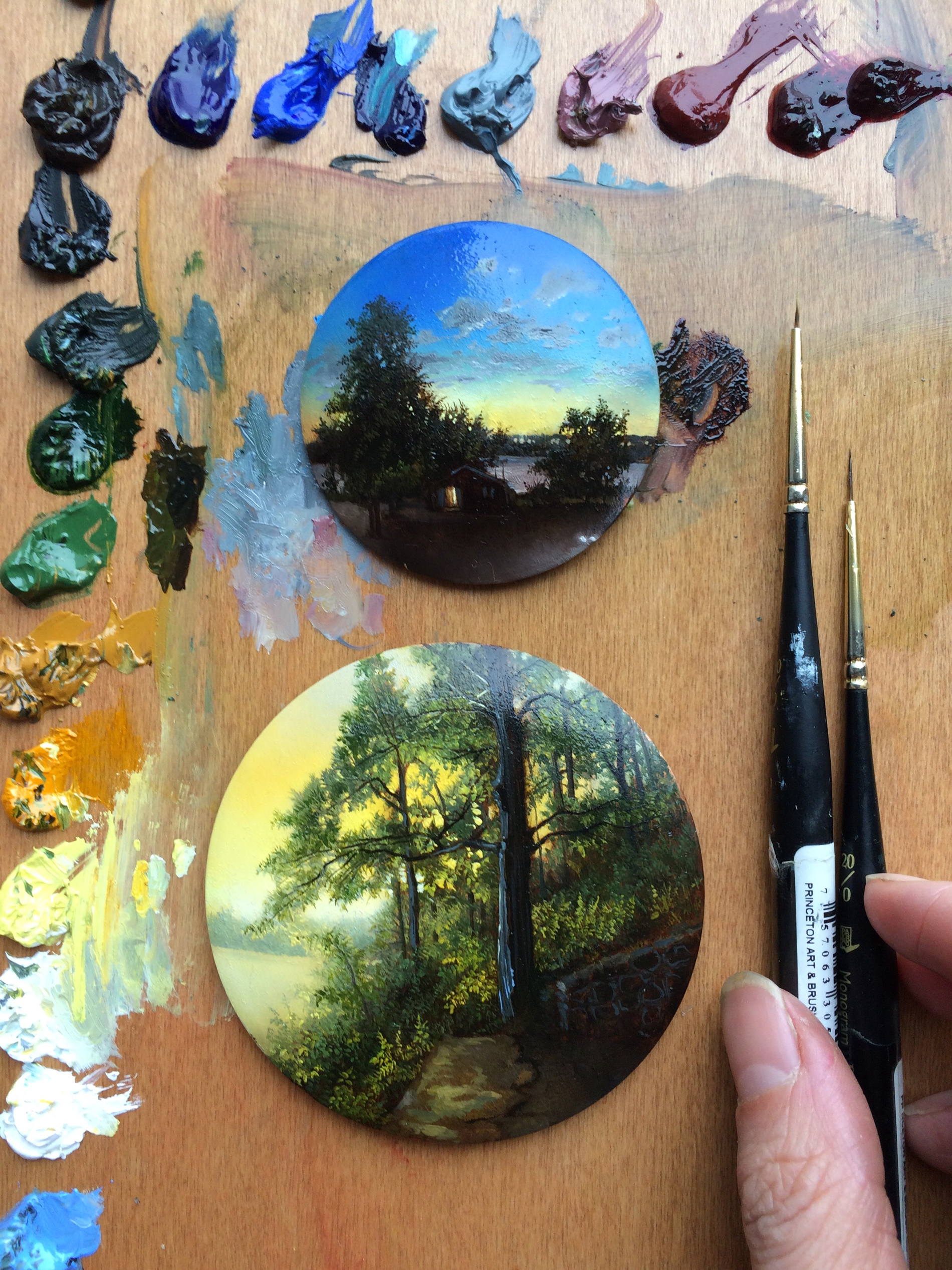 Painting S Dina Brodsky Chronicles Her Travels In Detailed Miniature
