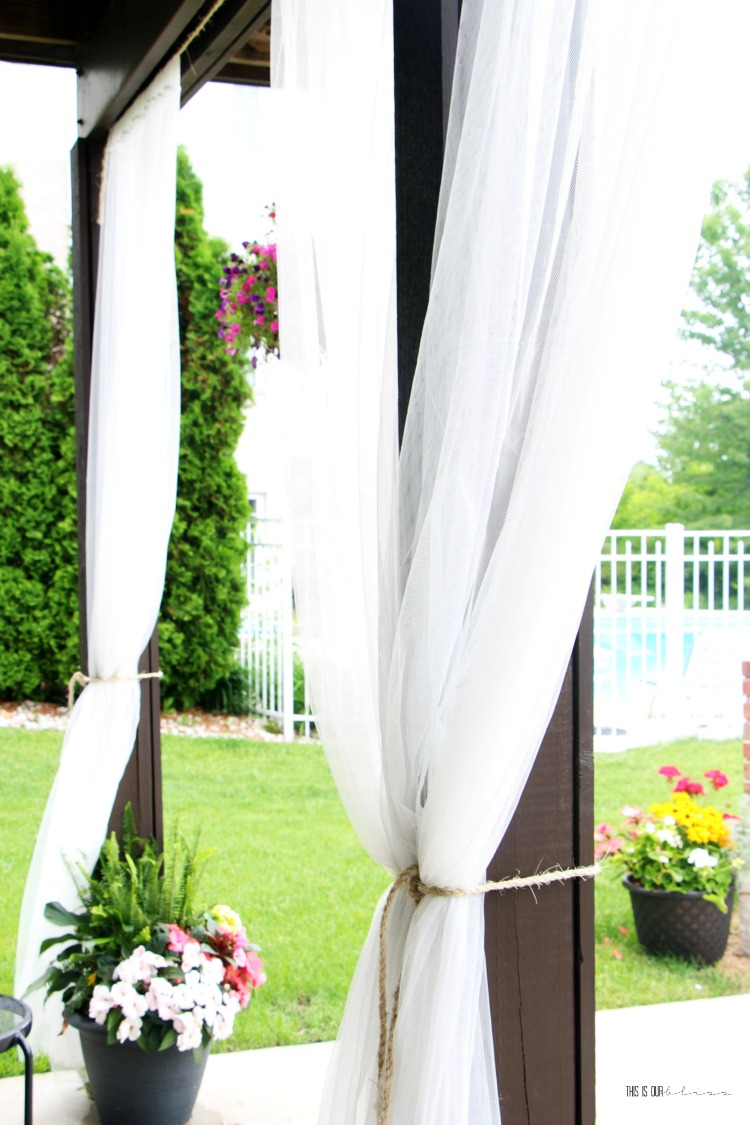 Outdoor Curtain Fabric By The Yard Diy Under Deck Outdoor Curtains For Under 20 This Is Our Bliss