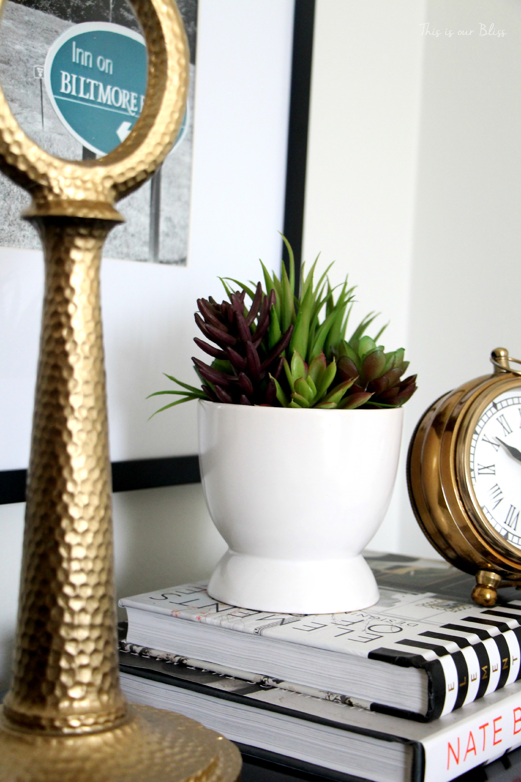Bedside Table Clocks Our Current Home Tour This Is Our Bliss