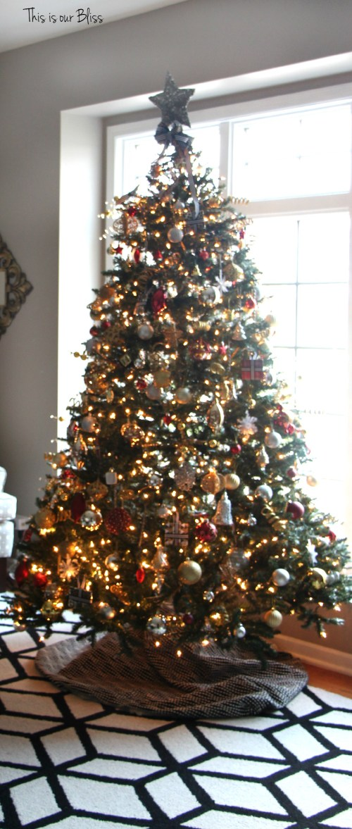 12 days of christmas tour of homes - formal living room tree - This is our Bliss
