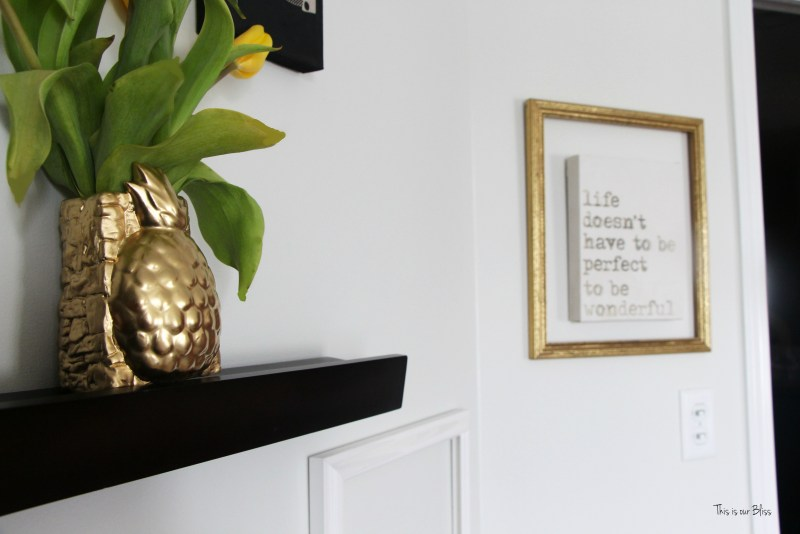 Thrifted find | Pretty Welcoming vase | gold pineapple vase 4 | Its so ugly its cool thrift challenge || This is our Bliss
