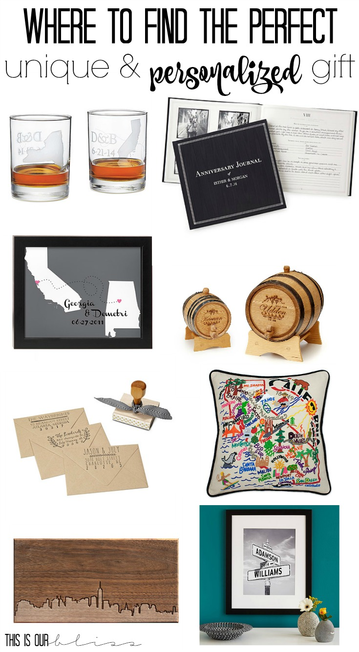 where to find the perfect unique and personalized gift | This is our Bliss