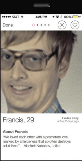 What not to write in your Tinder bio