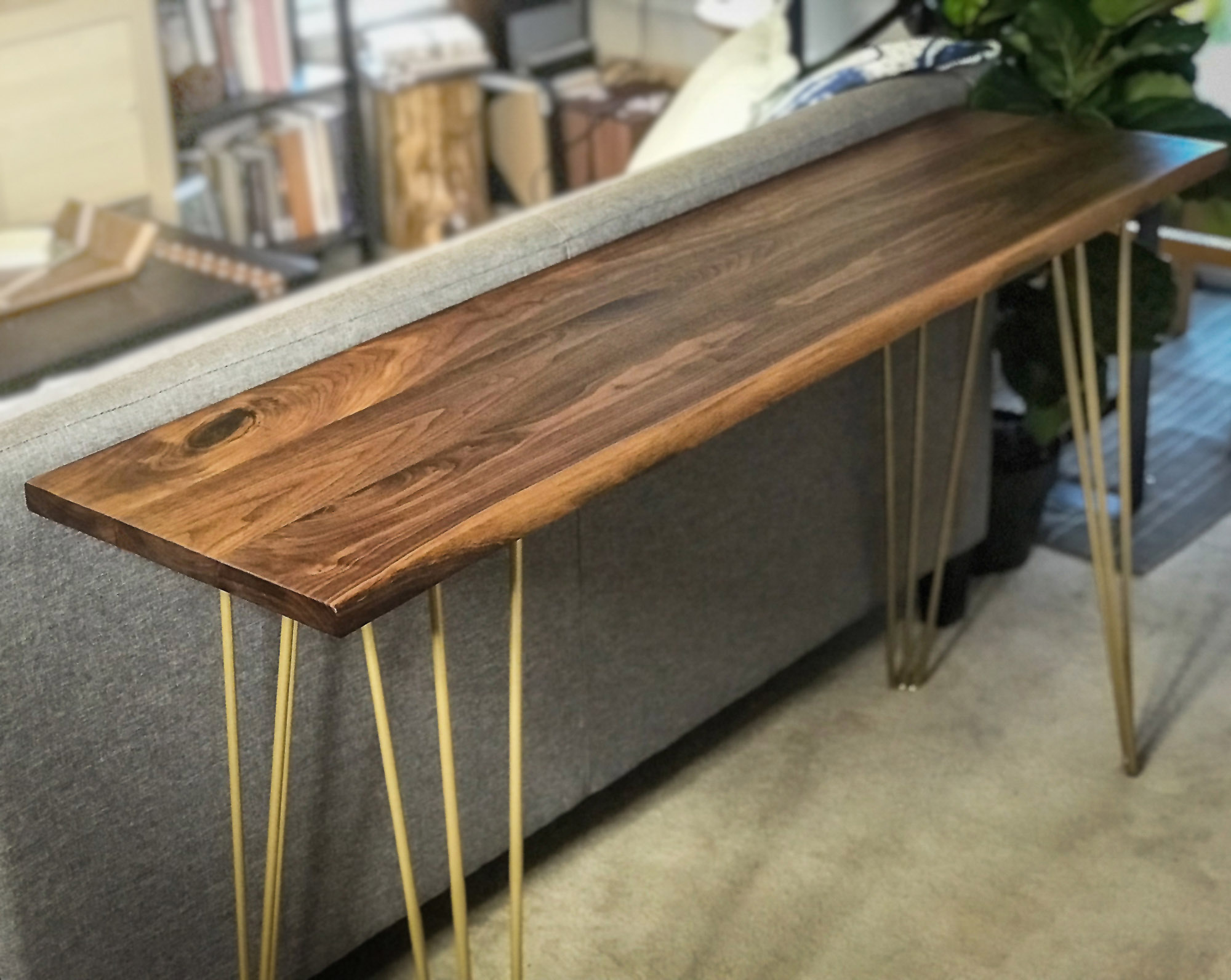 Urban Sofa Live Edge Live Edge Walnut Sofa Table
