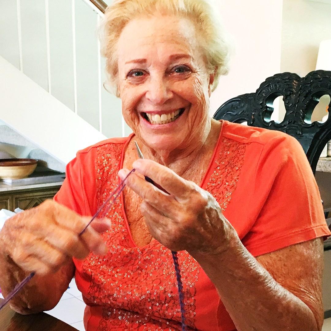 My knitting grandma.
