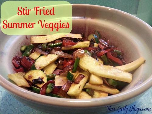 Stir Fried Summer Veggies Recipe ~ A Veggie Feast Year-Round!