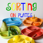 Color Sorting Activity on Colorful Plates