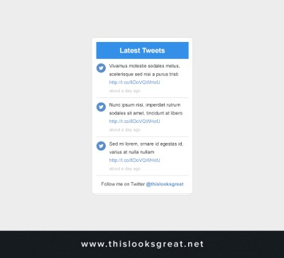 thislooksgreat.net - Latest Tweets Layout – thislooksgreat.net