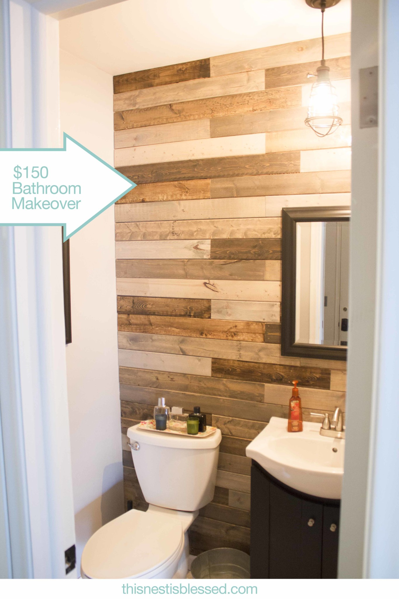 Bathroom plank wall for Bathroom wall designs