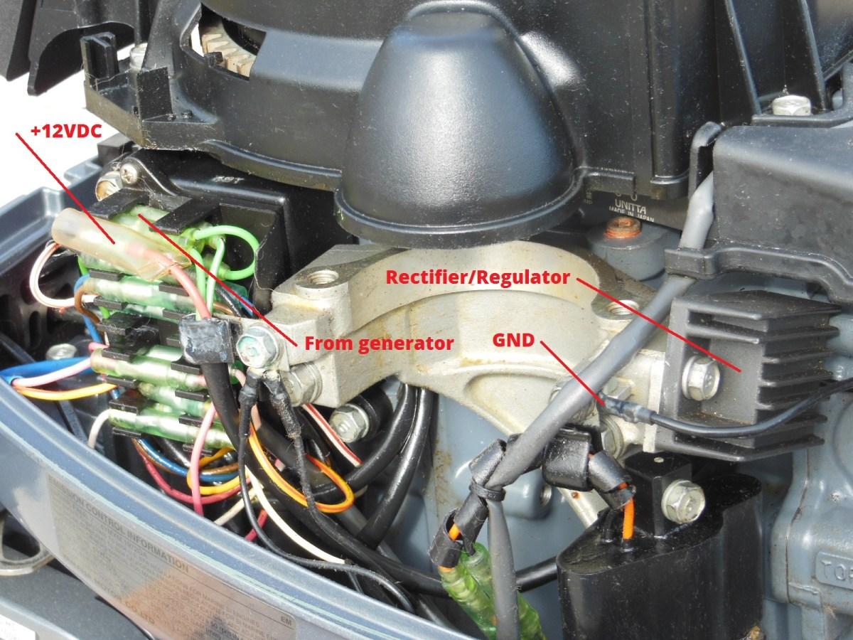 honda boat motor tachometer wiring