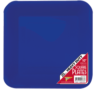 BLUE DINNER PLASTIC SQUARE PLATES | This Party Started