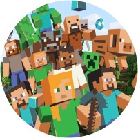 Minecraft Characters Cake Image | This Party Started