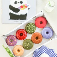 please, mr. panda + tea icing donuts from thirsty for tea!