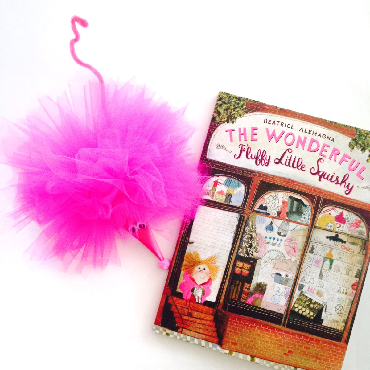 the wonderful fluffy little squishy + tulle pom pom craft!