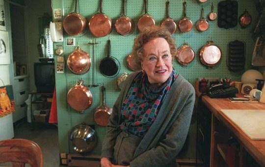 Julia in her kitchen