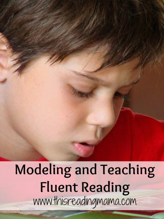 Modeling and Teaching Fluent Reading