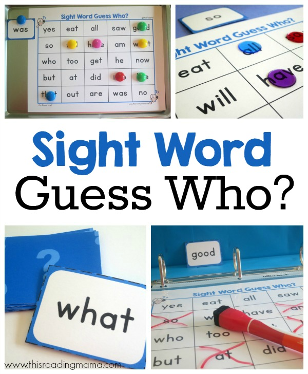 Sight Word Guess Who Pack {FREE} - This Reading Mama