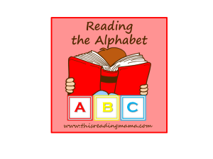 Reading the Alphabet, free preschool reading curriculum
