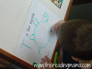 T is for Turtle Tracing Page