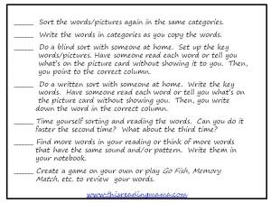 word study routines