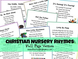 Christian Nursery Rhymes-Full Page Version