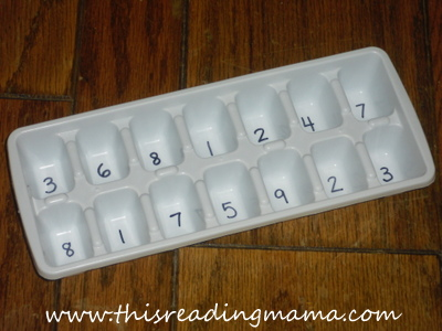 adding numbers to ice tray
