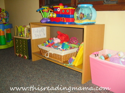 photo of displaying and organizing toys (baby toys)