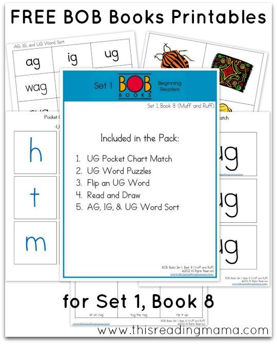 FREE BOB Books Printables Set1-Book 8 This Reading Mama