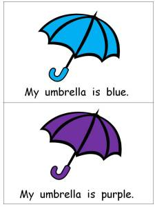 photo of Colorful Umbrellas Emergent Reader | This Reading Mama