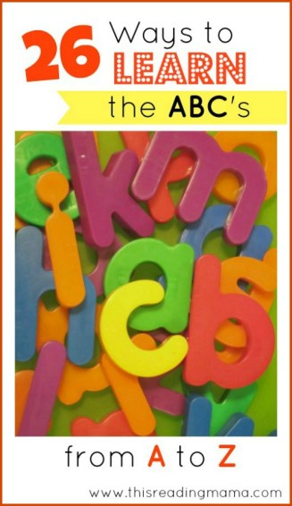 26 Ways to Learn the ABC's from A to Z | This Reading Mama