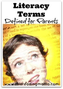 Literacy Terms Defined for Parents