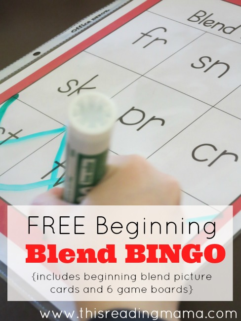 FREE Beginning Blend Bingo Pack | This Reading Mama