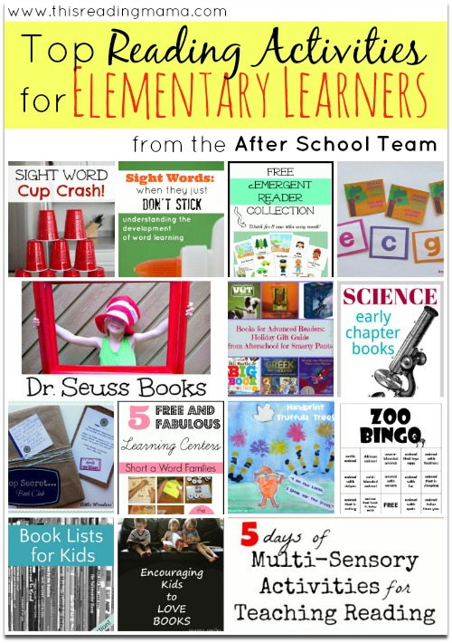 Top Reading Activities for Elementary Learners (from the After School Team)   This Reading Mama