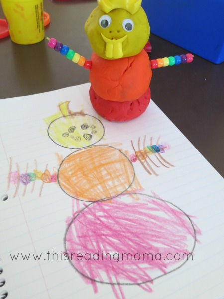 Drawing our playdough snowmen | This Reading Mama