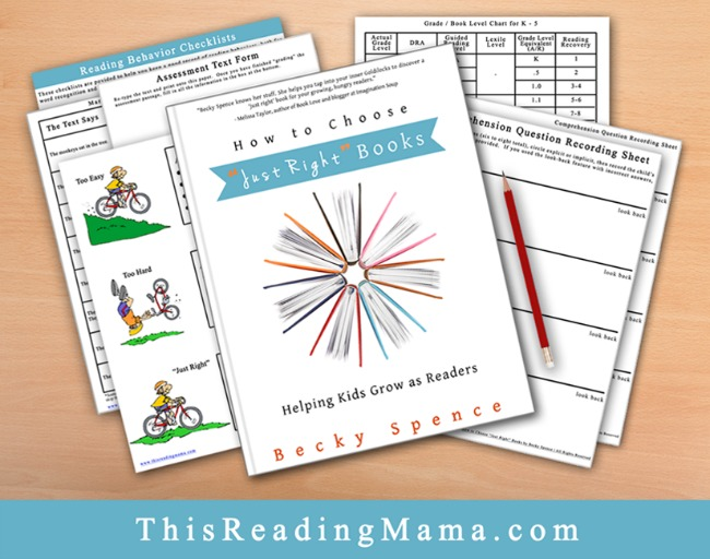 How to Choose Just Right Books Printable Resource Pack for Email Subscribers | This Reading Mama